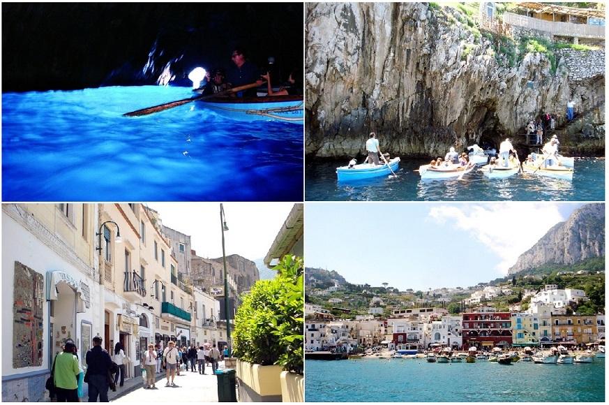 きらめきのブルー体験【青の洞窟】へ! カプリ島1日観光ツアー(公認ガイド、ランチ付き)