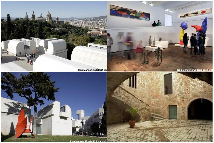 ピカソ美術館とミロ美術館巡り午後ツアー(観光ガイド付)
