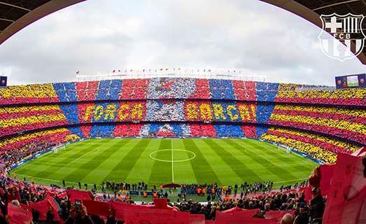 F.Cバルセロナのカンプノウ・サッカースタジアム見学