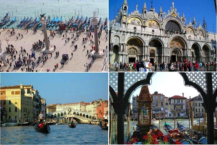 【到着アシスタント付】イタリア高速列車の旅! 水の都ベネチアでゴンドラクルーズ(ローマ発着)