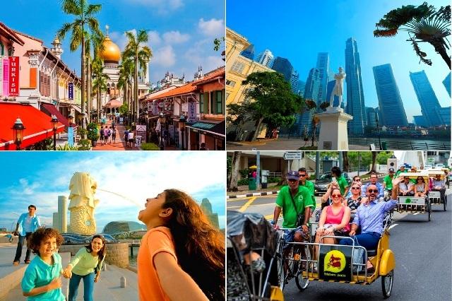 【シンガポール】1日市内観光デラックス 選べるローカルフードランチ付き