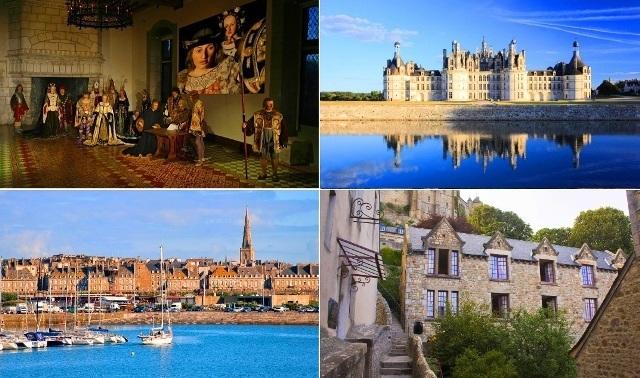 3日間周遊コース: ノルマンディ+サンマロ、モンサンミッシェル、ロワール河の古城 - パリ発