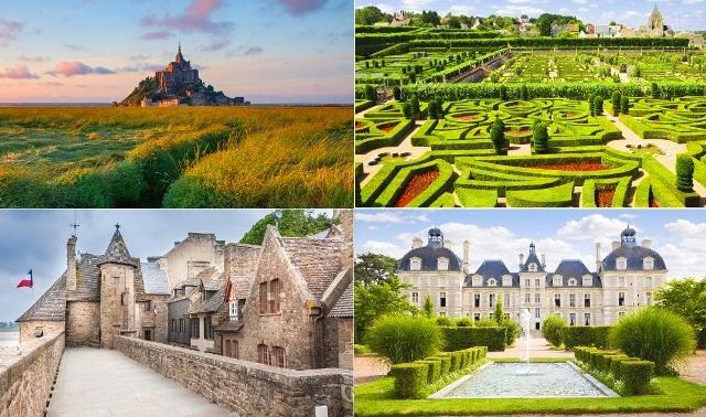 3日間周遊コース: モンサンミッシェルとロワール河の古城 - パリ発