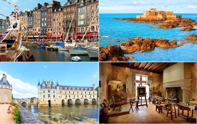 4日間周遊コース: ルマンディー、サン・マロ、モン・サン・ミッシェルとロワールの古城 - パリ発
