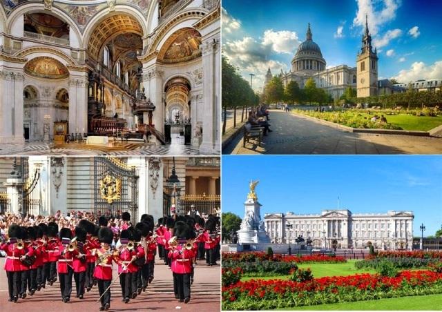 ロンドン半日観光(セントポール大聖堂と衛兵の交替式見学付き)