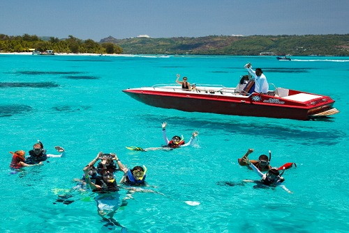 ビーシーサンスポーツ マニャガハ島パッケージツアー(マニャガハ島送迎+パラセーリング+ボートシュノーケリング)