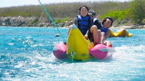 【究極パック】ジェットスキー+バナナボート+ウェイクボード+パラセイリング+体験ダイビング+ビーチシュノーケル+ランチ