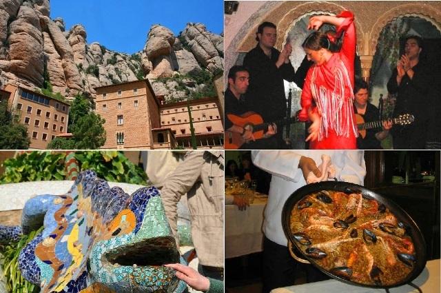 バルセロナ・プレミアム・充実のバルセロナ1日! 世界遺産サグラダファミリアと絶景モンセラット、夜までフラメンコ!