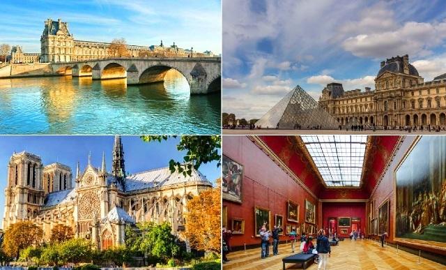 パリ、ルーヴル、ノートルダムのガイド付き徒歩観光(昼食付)