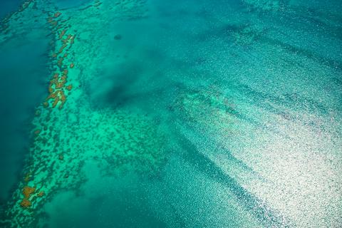 空から見たグレートバリアリーフ