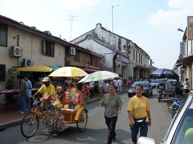マラッカの街中の様子