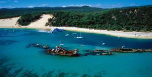 目の前に広がる美しい海とビーチを楽しめます。