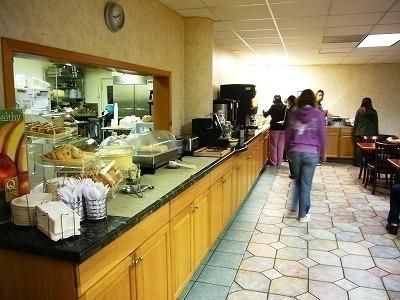ホテルの朝食場所