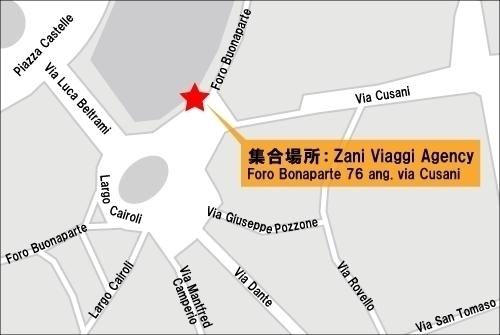 ツアー集合場所地図