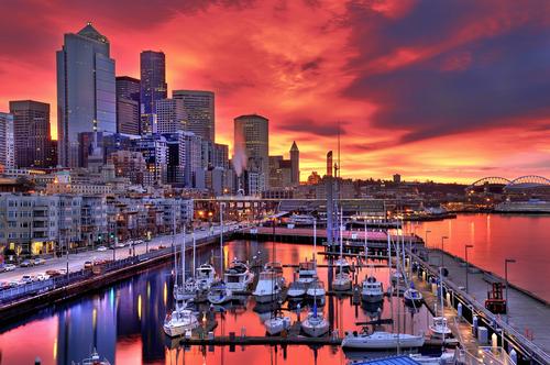 シアトルの夕焼け