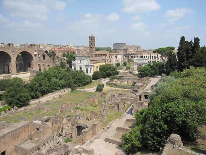 ローマ皇帝の邸宅跡パラティーノの丘