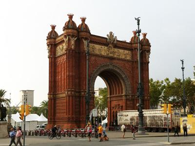 集合場所:バルセロナ凱旋門(Arc de Triomf)