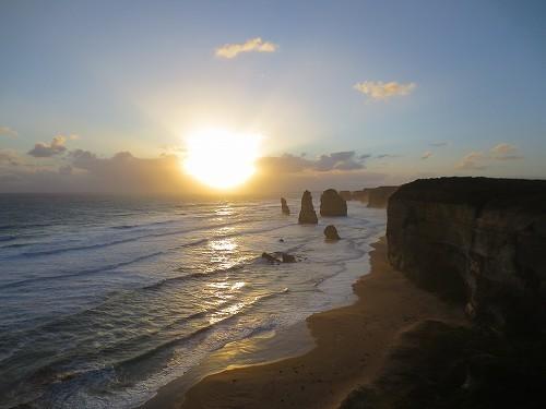 12使徒の岩でのサンセット