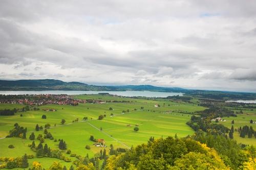 ノイシュバンシュタイン城からの眺め