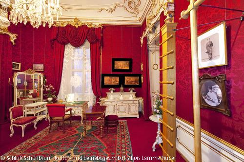 王宮内のエリザベートの体操と洗面の部屋