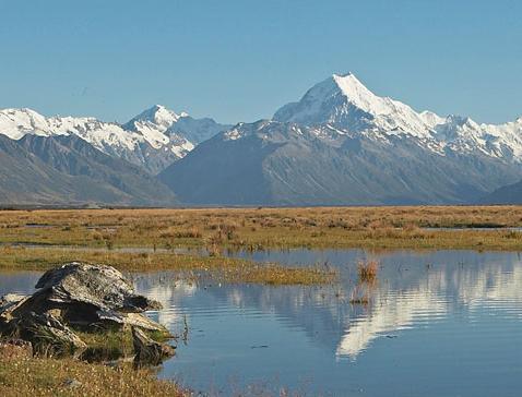 ニュージーランドで1番高い山。マウントクック