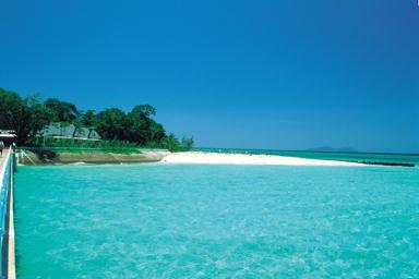 透き通るような青い海