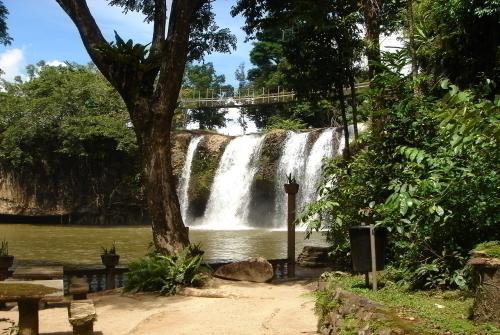 パロネラパーク園内から望む滝