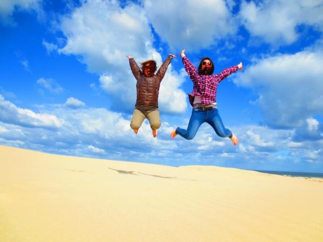 砂丘でジャーンプ!!!