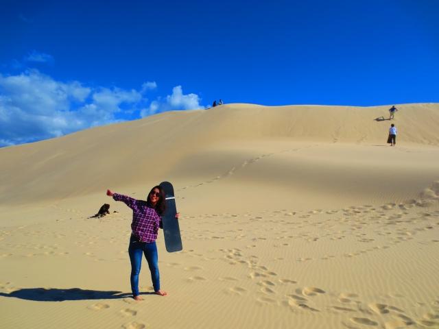 砂丘滑り、大成功☆