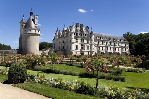 シュノンソー城にはふたつのフランス式庭園があります