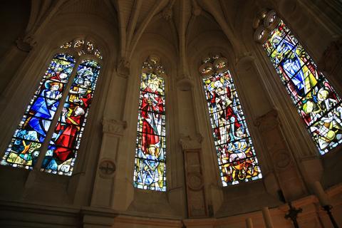 シュノンソー城のチャペルのステンドグラス