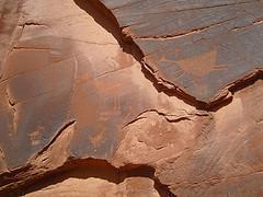 岩石には象形文字が