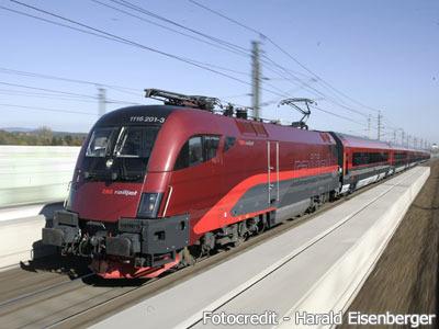 オーストリア国鉄のレイルジェット
