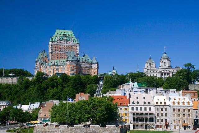 ケベックシティの象徴、フェアモントシャトーフロンテナック