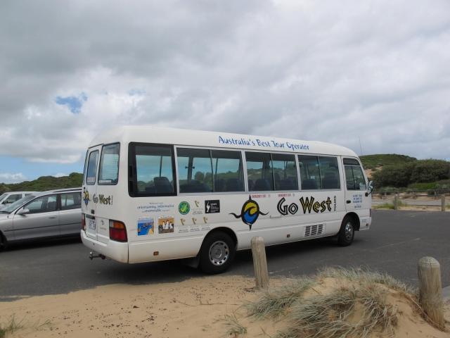 こんなカンジのバスの乗り込んで、メルボルンから一路フィリップ島へ向かいます