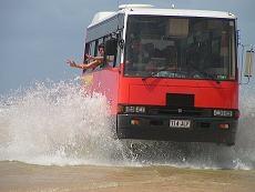 ツアーは快適な4WDバスで。