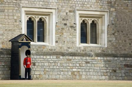 ウインザー城外壁の憲兵