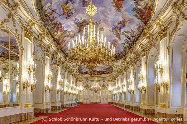 歴史が刻まれている、絢爛豪華な大ギャラリー。