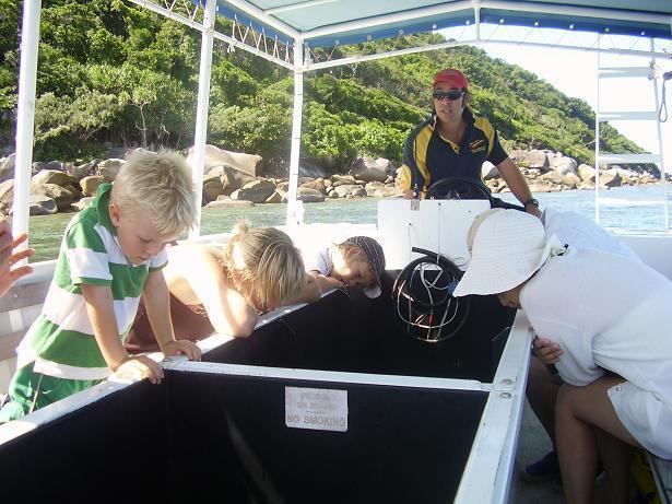 子供にも人気のグラスボトムボート
