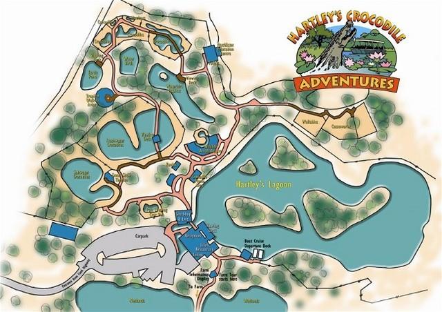 園内の地図