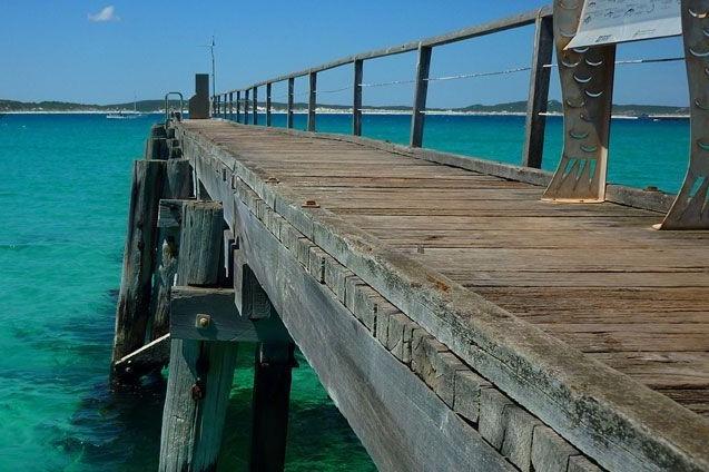 カンガルー島の桟橋