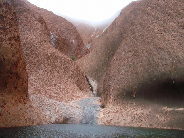 ウルル(エアーズロック)の麓にあるムティジュルの泉