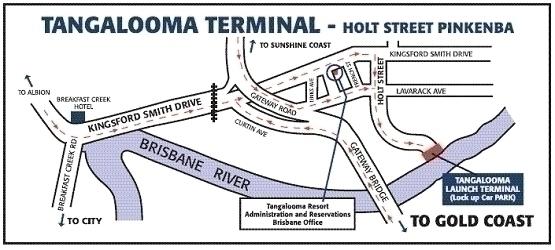 タンガルーマフェリーターミナルの地図