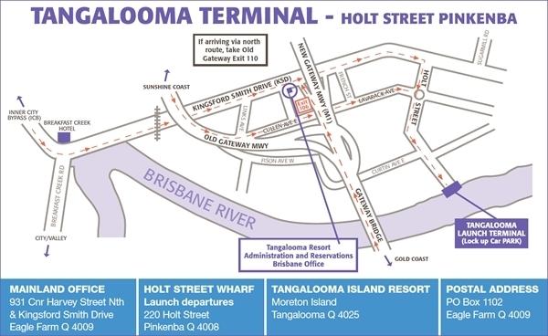 ブリスベン桟橋の地図