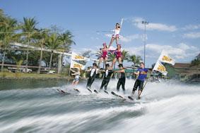 シーワールドの水上スキーショー