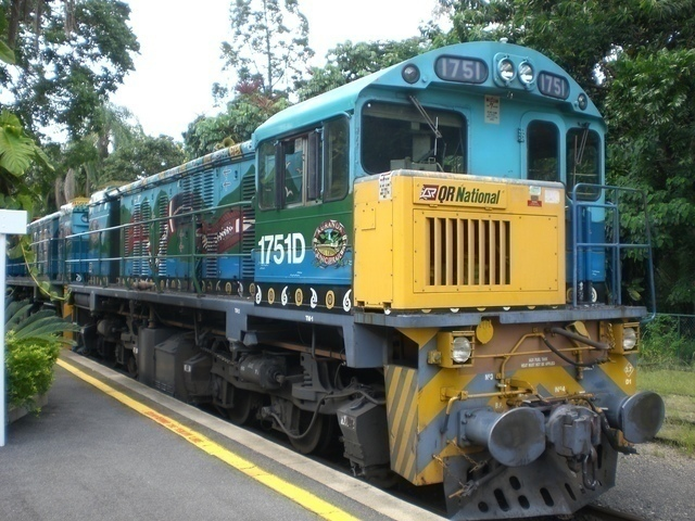 キュランダ列車の先頭車両