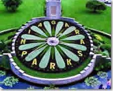 ナイアガラの名物花時計(ナイアガラ観光局写真提供)