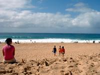 冬場は大波が来るノースのビーチ