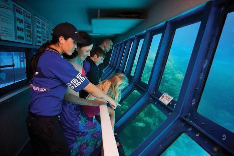 ポンツーンの海中観測室