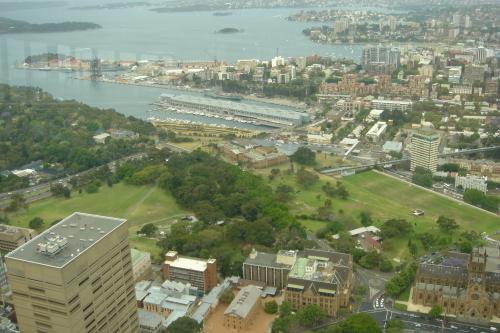 シドニータワーからの眺め 王立植物園 州立美術館